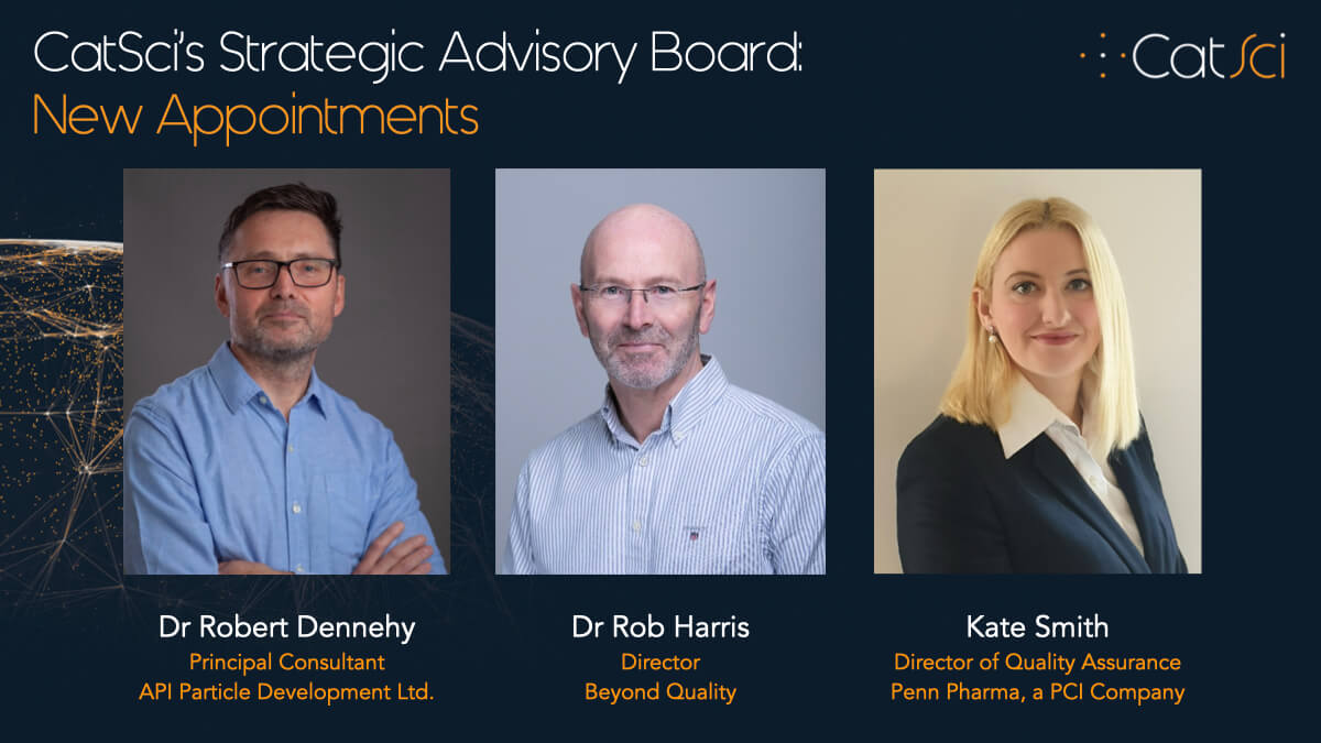 CatSci further strengthens its customer-focused Strategic Advisory Board with three key appointments