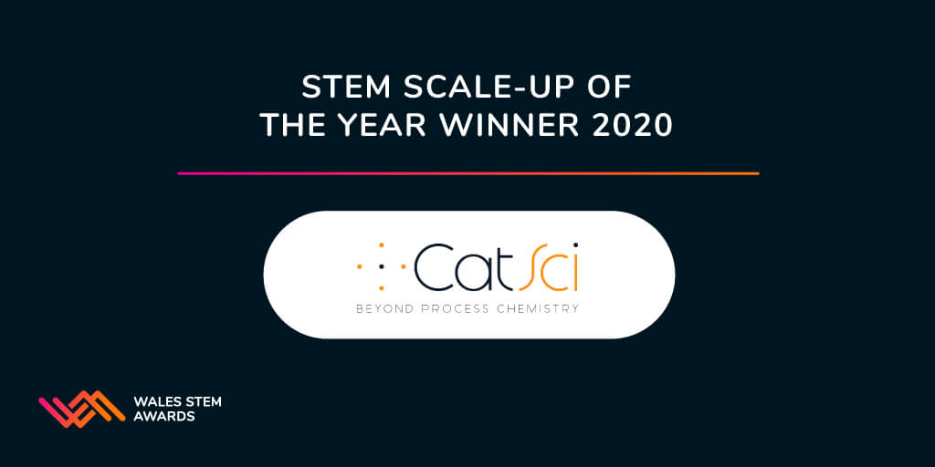 CatSci's continued growth recognised by win at prestigious Wales STEM Awards 2020
