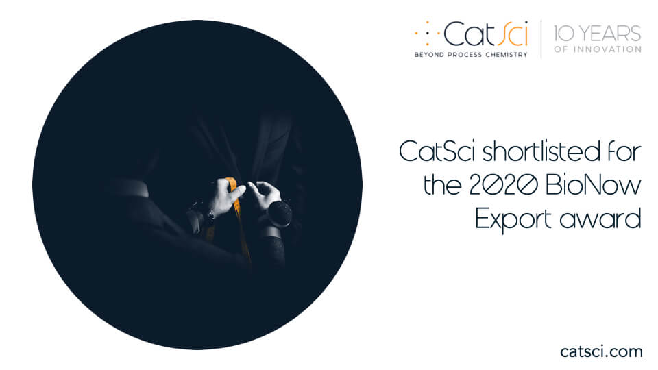 CatSci shortlisted for the 2020 BioNow Export award