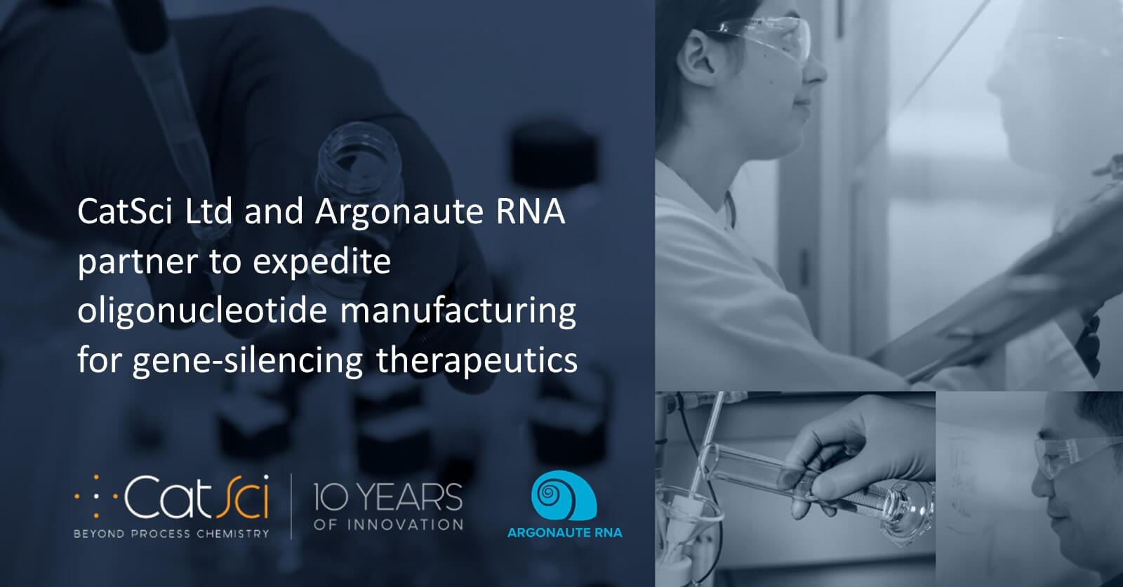 CatSci and Argonaute RNA partner to expedite oligonucleotide manufacturing for gene-silencing therapeutics